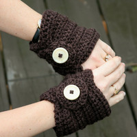 Fingerless gloves short hand warmers crochet