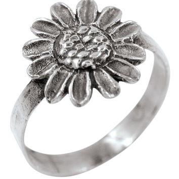 Sunflower - Silver Ring