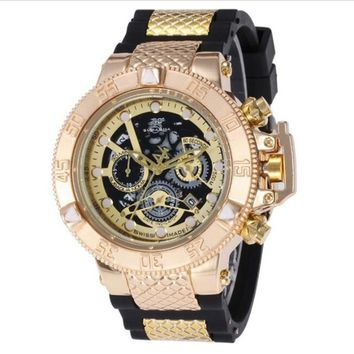 Brazil style High quality Large rotating dial Luxury man multifunction Calendar run seconds kill INVICTA Quartz watch