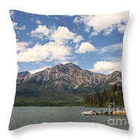 """Summer at Pyramid Lake Throw Pillow for Sale by Ivy Ho - 16"""" x 16"""""""