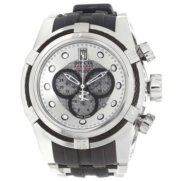 Invicta 16005 Men's Jason Taylor Bolt Zeus Reserve Silver Dial Steel & Rubber Strap Chronograph Dive Watch