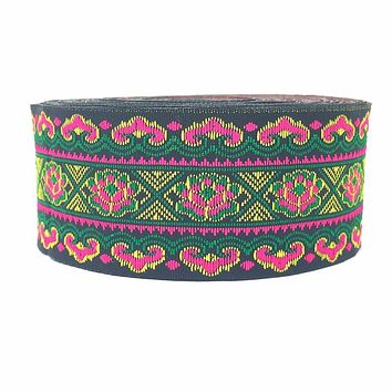 ZERZEEMOOY 40MM 9YARD/LOTS DIY handmade accessories national style flower embroidery lace Chinese style woven jacquard ribbon