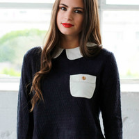 'Dollhouse' Pocket Crop Sweater