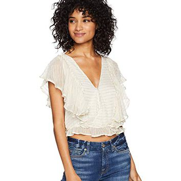 Amuse Society Sunbeam Woven Top