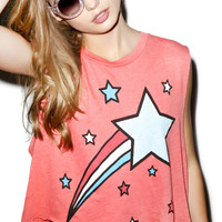 Wildfox Couture Shooting Stripes Chad Tank Valentine