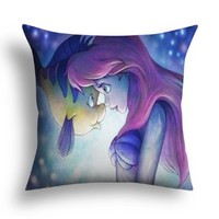 "Home Style pillowcase Disney princess love kiss Throw Pillow Cushion Cover manual custom home life (12"" x 12"")"