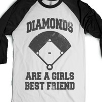 Diamonds Are A Girls Best Friend (Vintage Baseball)-T-Shirt L |