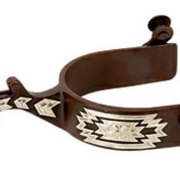 Saddles Tack Horse Supplies - ChickSaddlery.com Weaver Antiqued Western Silver Show Spur