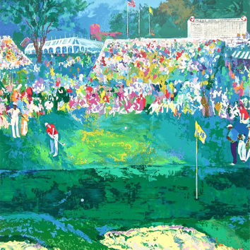 Bethpage Black Course, Ltd Ed Silk-screen, Le Roy Neiman