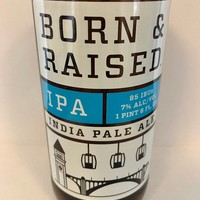 Upcycled Beer Bottle Drinking Glass. No-Li Born & Raised India Pale Ale.
