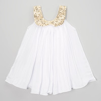 White Ruffle Tunic Dress - Toddler & Girls | something special every day