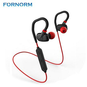 FORNORM Bluetooth Headphones Wireless Earbuds V4.1 Sports Sweatproof Earphones Fit Bluetooth Headset With Mic For Run And Gym