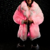 GLOWING PINK FUR COAT by LotusLuxuries on Etsy
