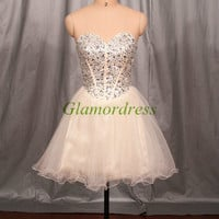 Sell well Rhinestone Prom Dresses Homecoming Dresses Quinceanera Dresses affordable prom dress Cocktail Dress