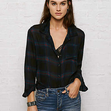 Don't Ask Why Plaid Shirt, Navy