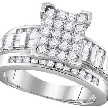 10k White Gold Diamond Cindy's Dream Cinderella Bridal Wedding Engagement Ring 2 Cttw Size 8 111683