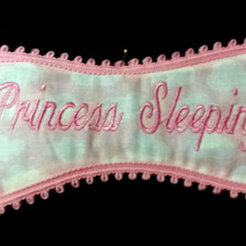 Princess Sleeping Pink Clouds Sleep and Play Mask Pinks and Greens
