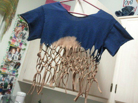 Monique's Fun Accessories   Navy Blue Fringe T-Shirt (Small)   Online Store Powered by Storenvy