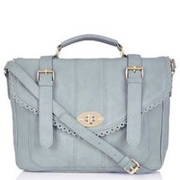 Cutwork Trim Satchel