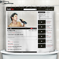 BATHTUB VIDEO SHOWER CURTAIN