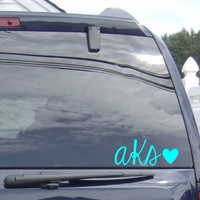 Monogram Car Decal - Monogram Car Sticker