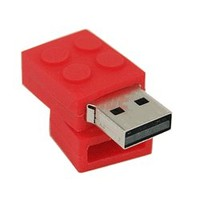 Red Building Block Flash Drive - 4GB - Novelty Flash Drives