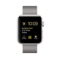Apple Watch - Silver Aluminum Case with Pearl Woven Nylon
