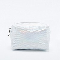Holographic Cosmetics Bag in Silver - Urban Outfitters