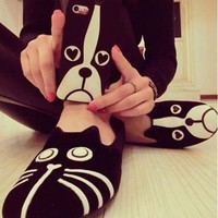 cat shoes,Flat Women Meow star people Dog shoes Animal shoes