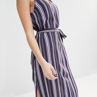 New Look Stripe Midi Cami Slip Dress at asos.com