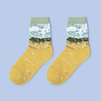 Wheat Field Sock