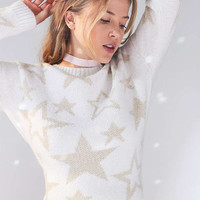 Ecote Starry Night Shimmer Sweater - Urban Outfitters