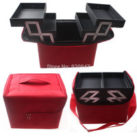Professional Portable Make up Box Makeup Bag Beauty Case Cosmetic Bag Multi Tiers Jewelry Box