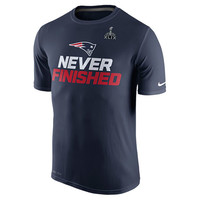 Men's Nike New England Patriots NFL Super Bowl 49 Never Finished T-Shirt