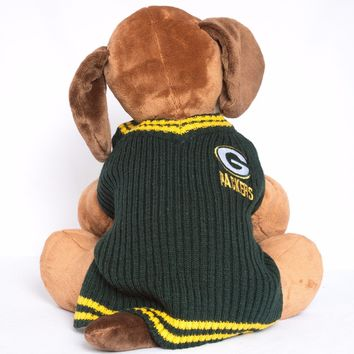 Green Bay Packers Dog Sweater V-neck NFL Football Official Licensed Pet Product