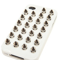 Felony Case The Spiked iPhone 4 Case in White and Silver Spikes : Karmaloop.com - Global Concrete Culture