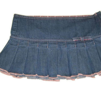 new cute ABERCROMBIE Pre Teen Girls Jean Skirt Size 12