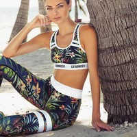 Floral Active Wear Leggings & Sports Bra