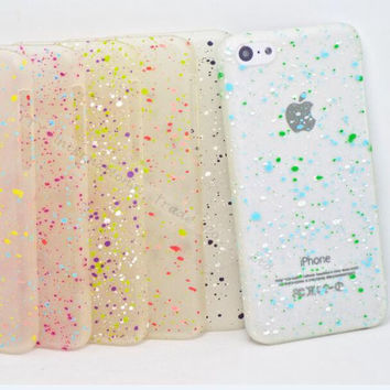 Innovation Multicolor Spots Bright Luminous Glow in Dark Phone Shell Cover For Apple iPhone5C Case For iPhone 5C Cases TCW WRT