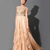 Embellished chiffon gown 79132 - Prom Dresses