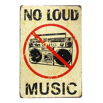 DL Bedroom art wall Metal Poster Retro Pub Home Craft Decor Vintage Wall art painting 20*30 CM Mix Items Clear
