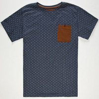Billabong Garage Collection Glide Polka Mens T-Shirt Indigo  In Sizes