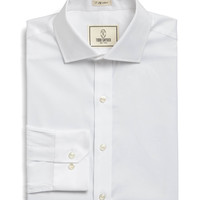 Spread Collar Dress Shirt in White