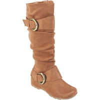 Walmart: Brinley Co. - Women's Buckle Accent Slouchy Mid-Calf Boots