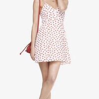 HEART AND ARROW STRAPPY BABYDOLL DRESS from EXPRESS