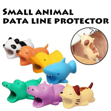 ping 1pcs cute Cable Bite Animal Protectors Bite for Iphone Cable Protector