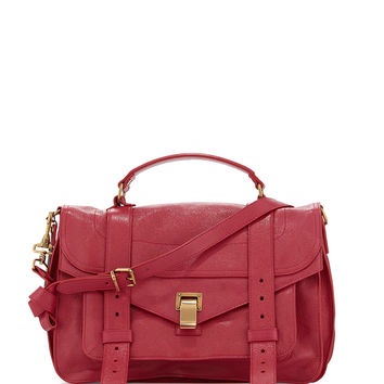 PS1 Medium Satchel Bag, Raspberry - Proenza Schouler