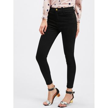 Classic Black High Waisted Jeans