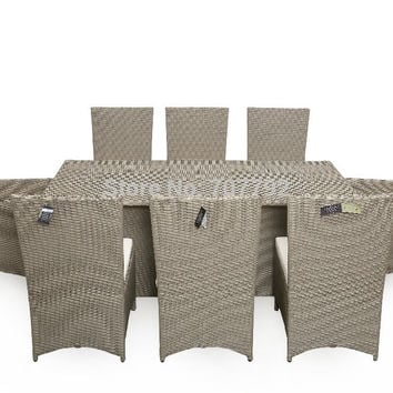 2017 New Style SG-072B outdoor PE rattan wicker table and chairs
