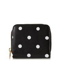 Small Spot Zip Around Purse - Bags & Purses  - Bags & Accessories